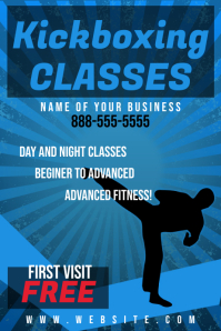 Kickboxing fitness Flyer