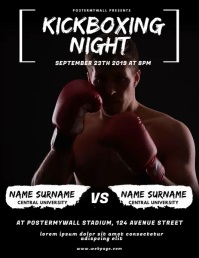 Kickboxing Night Flyer Video Design Template