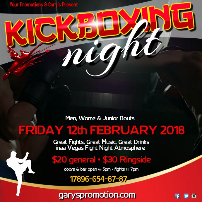 Kickboxing night instagram