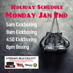 Kickboxing Flyer