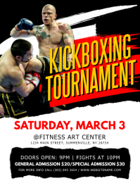 Kickboxing Tournament Flyer