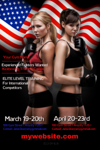 Kickboxing Training Camp Flyer Affiche template