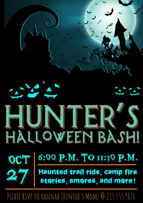 Kids halloween party invite template postermywall kids halloween party invite customize template maxwellsz