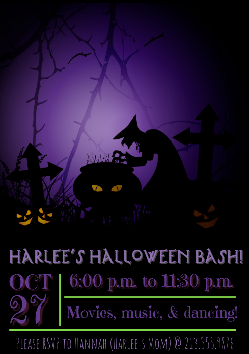 Kid's Halloween Party Invite