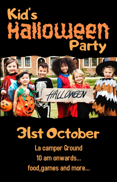 Kid's Halloween Party Poster