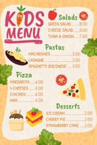 Customizable Design Templates for Kids Menu | PosterMyWall