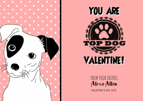 Kid's Valentine Postcard template