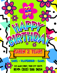 Kid Birthday Party Flyer