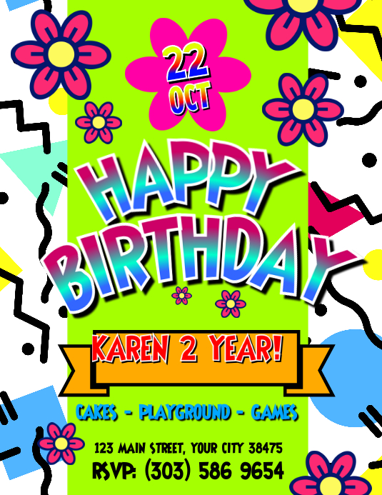 Kid Birthday Party Flyer