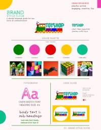 Kid Brand Style Guide Pamflet (Letter AS) template