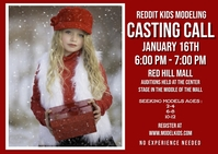 Kid fashion model casting call Открытка template