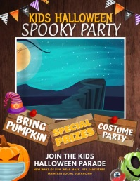 kid Halloween party Folheto (US Letter) template