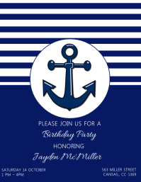 Kids Anchor Birthday Party