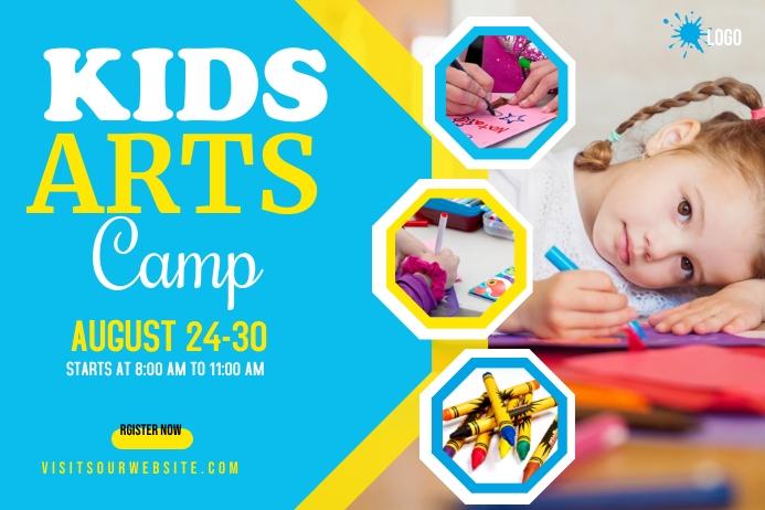 Kids Art Camp Banner 横幅 4' × 6' template