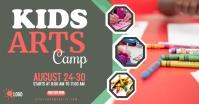 Kids Art Camp Imagen Compartida en Facebook template