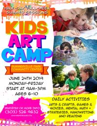 Kids Art Camp Flyer