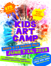 Kids Art Camp Flyer