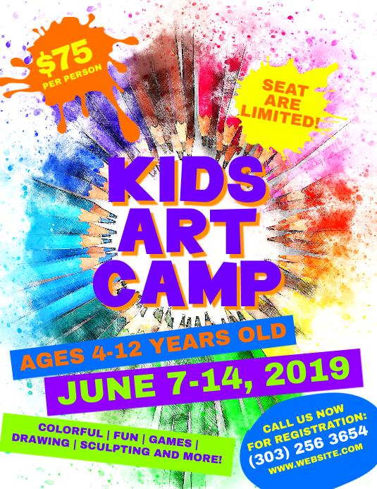 Kids Art Camp Flyer template
