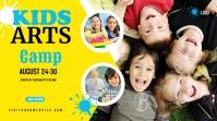 Kids Art Camp Twitter Post design Twitter-bericht template