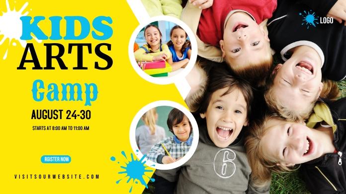 Kids Art Camp Twitter Post design template