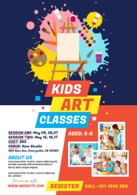 Kids Art Classes Flyer A4 template