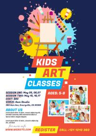 Kids Art Classes Flyer A4 template