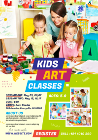 Kids Art Classes Flyer