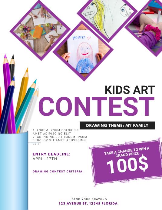 Kids Art Contest Flyer Template