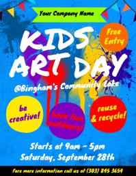Kids Art Day Flyer