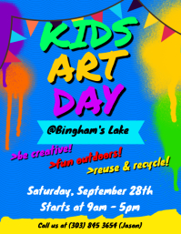Kids Art Day Flyer