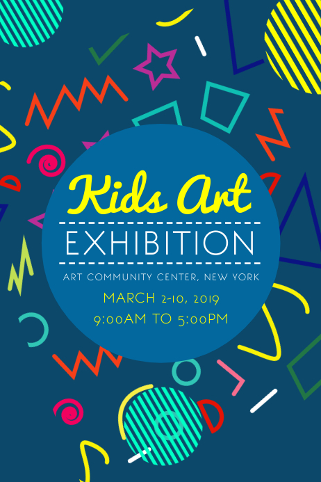 Kids art exhibition poster template postermywall kids art exhibition poster customize template stopboris Gallery