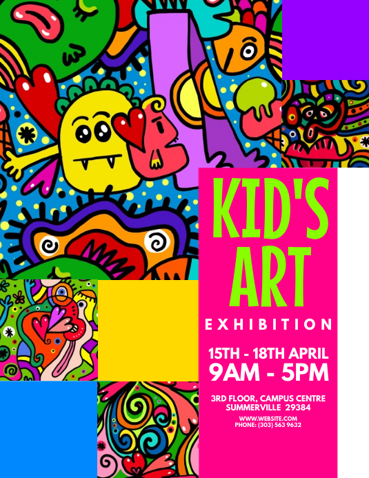 Kids Art Exhibition Flyer