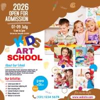 Kids Art School Admission Instagram-bericht template