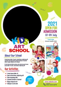 Kids Art School Admission A4 template