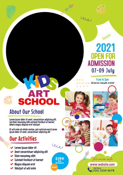 Kids Art School Admission