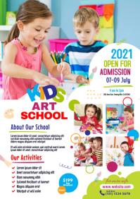 Kids Art School Flyer A4 template