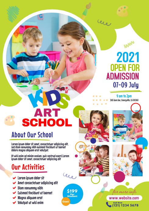 Kids Art School Flyer