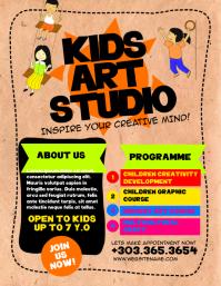 Kids Art Studio Flyer