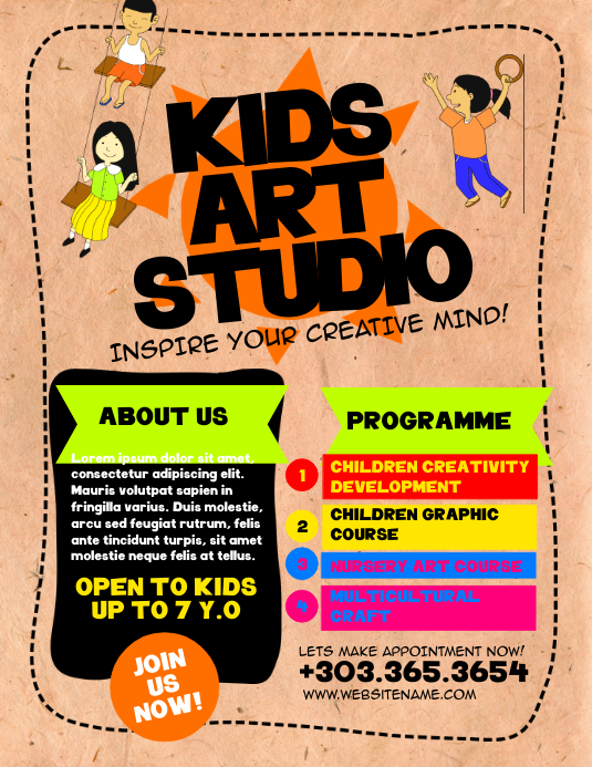 Kids Art Studio Flyer