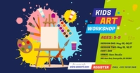 Kids Art Workshop Ad Imagen Compartida en Facebook template
