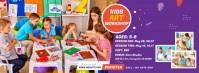 Kids Art Workshop Portada de Facebook template
