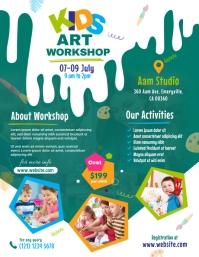 Kids Art Workshop Flyer