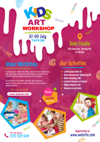Kids Art Workshop Flyer A4 template