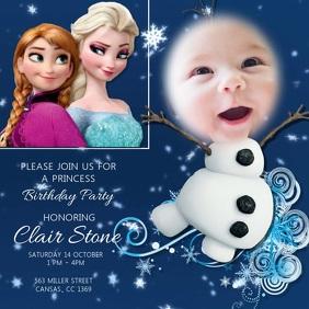 Kids baby Frozen Birthday Party