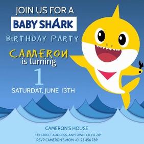KIDS Baby Shark BIRTHDAY INVITE Template