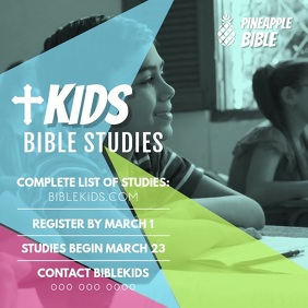 Kids Bible Study Class Ad Instagram Video