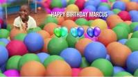 Kids Birthday Digitalanzeige (16:9) template