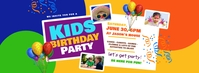 Kids Birthday Facebook Cover Photo template