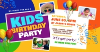 Kids Birthday Facebook Shared Image template