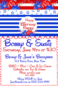 Kids Birthday Invitation Poster template